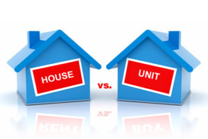 Apartments versus houses